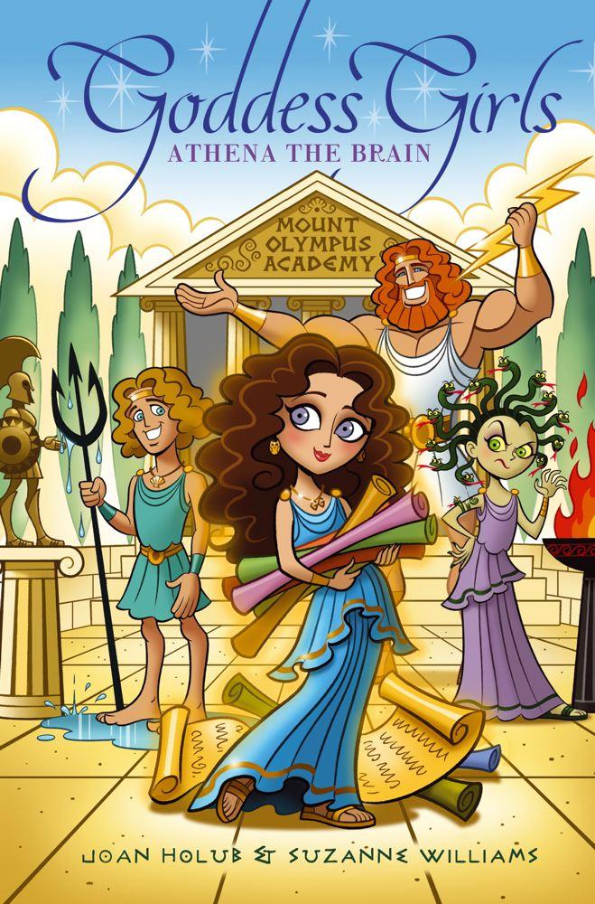 Cover for Athena the Brain (Goddess Girls #1)