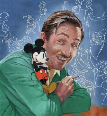 Walt's Imagination: The Life of Walt Disney (A Big Words Book) Cover Image
