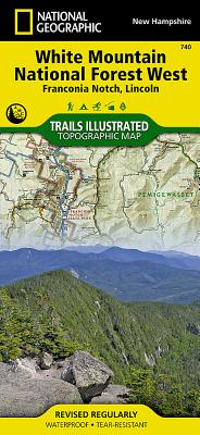 White Mountain National Forest West [Franconia Notch, Lincoln] (National Geographic Trails Illustrated Map #740) Cover Image