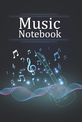 Musicians Notebook With Cool Design on Each Pages. 120 Pages 6x9 in Music Manuscript Paper. Space to Write Lyrics and Music Notes. Musicians Notebook. Cover Image