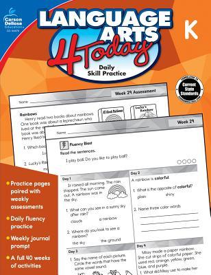 Language Arts 4 Today, Grade K Cover Image