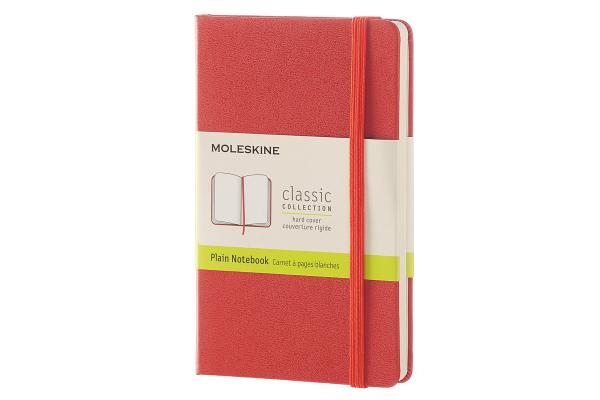 Moleskine Classic Notebook, Pocket, Plain, Coral Orange, Hard Cover (3.5 x 5.5) Cover Image