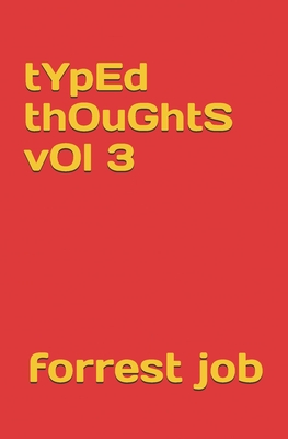 typed thoughts vol 3 Cover Image