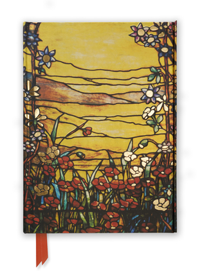 Tiffany: Red Flowers and a Stream (Foiled Journal) (Flame Tree Notebooks #14) Cover Image