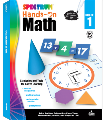 Spectrum Hands-On Math, Grade 1 Cover Image