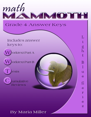 Math Mammoth Grade 4 Answer Keys Cover Image