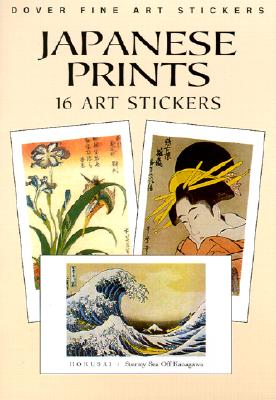 Japanese Prints: 16 Art Stickers (Pocket-Size Sticker Collections) Cover Image