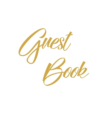 Gold Guest Book, Weddings, Anniversary, Party's, Special Occasions, Wake, Funeral, Memories, Christening, Baptism, Visitors Book, Guests Comments, Vac Cover Image