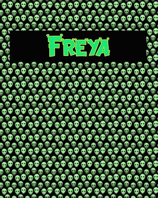 120 Page Handwriting Practice Book with Green Alien Cover Freya: Primary Grades Handwriting Book Cover Image