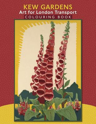 Kew Gardens: Art for London Transport Coloring Book Cover Image