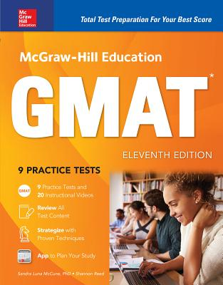 McGraw-Hill Education Gmat, Eleventh Edition Cover Image