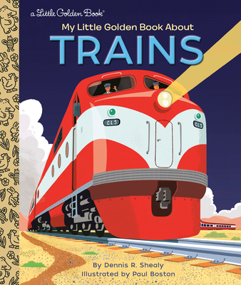 My Little Golden Book About Trains Cover Image