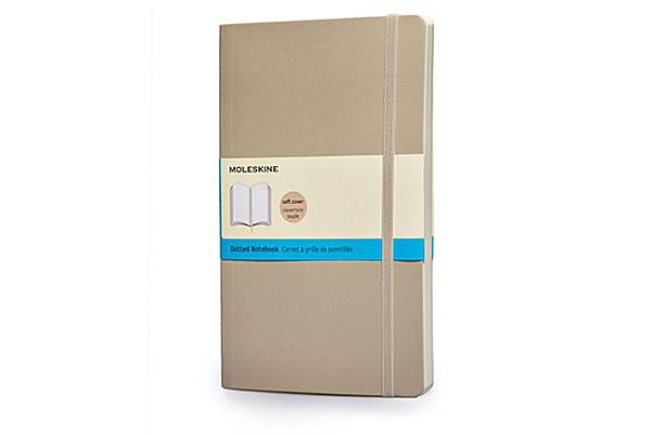 Moleskine Classic Colored Notebook, Large, Dotted, Khaki Beige, Soft Cover (5 x 8.25) Cover Image