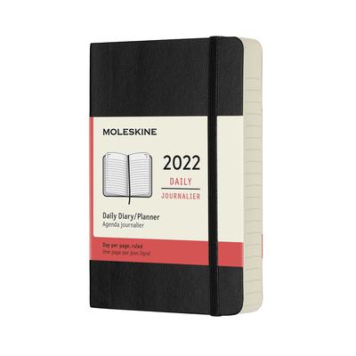 Moleskine 2022  Daily Planner, 12M, Pocket, Black, Soft Cover (3.5 x 5.5) Cover Image