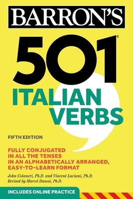 501 Italian Verbs (Barron's 501 Verbs) Cover Image