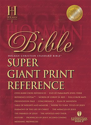 Super Giant Print Reference Bible-HCSB Cover