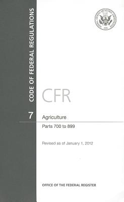Agriculture: Parts 700 to 899 Cover Image