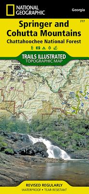 Springer and Cohutta Mountains [chattahoochee National Forest] (National Geographic Maps: Trails Illustrated #777) Cover Image