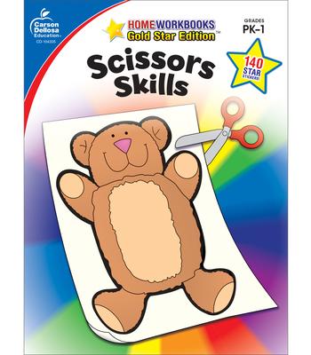 Scissors Skills, Grades Pk - 1: Gold Star Edition (Home Workbooks) Cover Image