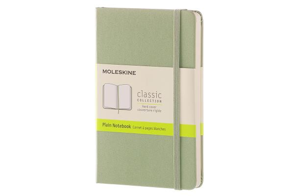 Moleskine Classic Notebook, Pocket, Plain, Willow Green, Hard Cover (3.5 x 5.5) Cover Image