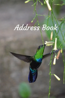 Address Book: With Alphabetical Tabs, For Contacts, Addresses, Phone, Email, Birthdays and Anniversaries (Hummingbird) Cover Image