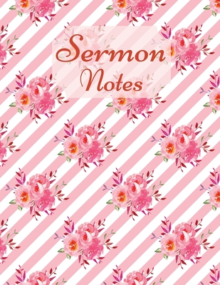 Sermon Notes-Special Edition-Color Interior-Sermon Notes Journal for Men and Women- Christian arts gifts-Scripture Notes and Prayer- Verse notebook Cover Image