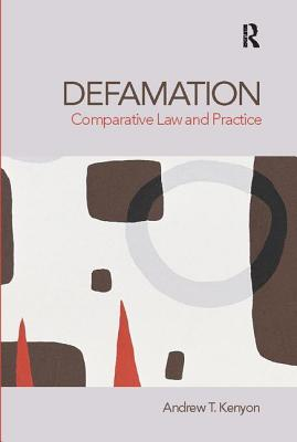 Defamation: Comparative Law and Practice Cover Image