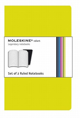 Moleskine Volant Notebook (Set of 2 ), Large, Ruled, Green (5 x 8.25): Set of 2 Cover Image