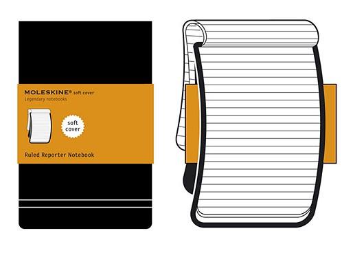Moleskine Reporter Notebook, Pocket, Ruled, Black, Soft Cover (3.5 x 5.5) (Reporter Notebooks) Cover Image