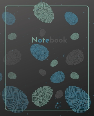 College Notebook: Student notebook Journal Diary Fingerprint cover notepad by Raz McOvoo Cover Image