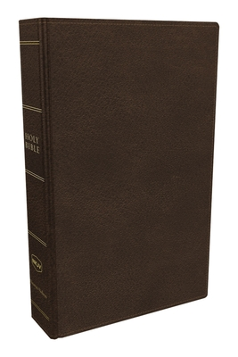 Cover for NKJV, Preaching Bible, Premium Calfskin Leather, Brown, Comfort Print