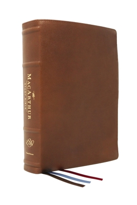 Cover for The Esv, MacArthur Study Bible, 2nd Edition, Premium Goatskin Leather, Brown, Premier Collection