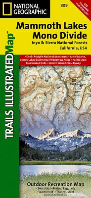 Mammoth Lakes, Mono Divide [Inyo and Sierra National Forests] (National Geographic Trails Illustrated Map #809) Cover Image