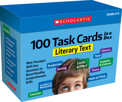 100 Task Cards in a Box: Literary Text: Mini-Passages With Key Questions to Boost Reading Comprehension Skills Cover Image