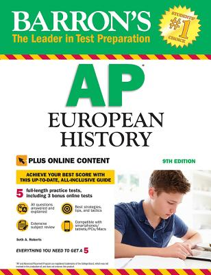 Barron's AP European History with Online Tests (Barron's Test Prep) Cover Image