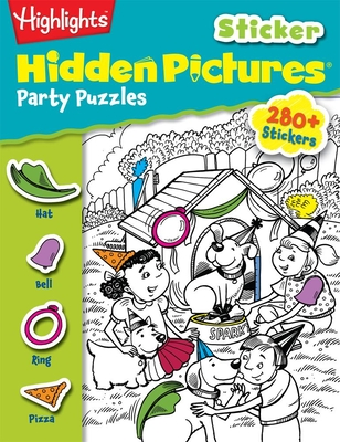 Party Puzzles (Highlights Sticker Hidden Pictures) Cover Image