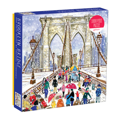 Michael Storrings Brooklyn Bridge 1000 Piece Puzzle in a Square Box Cover Image