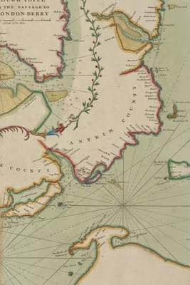 Cover for Poetose Notebook featuring 18th century chart of the Sea Coast of Ireland from Dublin to London-Derry (50 pages/25 sheets)