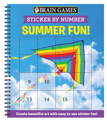 Brain Games - Sticker by Number: Summer Fun! (Easy - Square Stickers): Create Beautiful Art with Easy to Use Sticker Fun! Cover Image