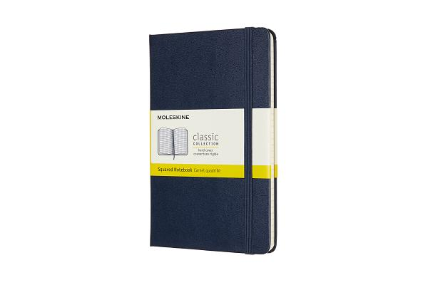 Moleskine Notebook, Medium, Squared, Sapphire Blue, Hard Cover (4.5 x 7) Cover Image