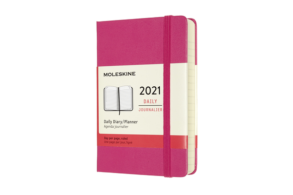 Moleskine 2021 Daily Planner, 12M, Pocket, Bougainvillea Pink, Hard Cover (3.5 x 5.5) Cover Image