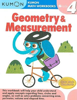 Geometry & Measurement, Grade 4 (Kumon Math Workbooks) Cover Image