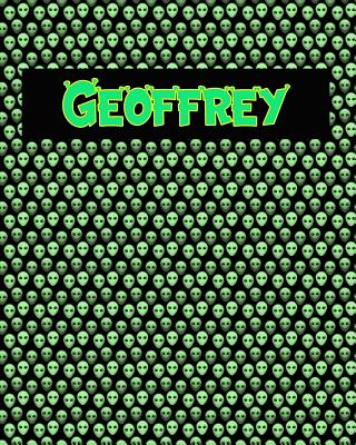 120 Page Handwriting Practice Book with Green Alien Cover Geoffrey: Primary Grades Handwriting Book Cover Image