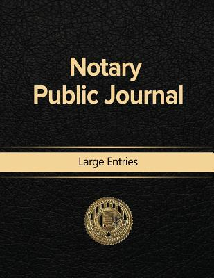Notary Public Journal Large Entries Cover Image