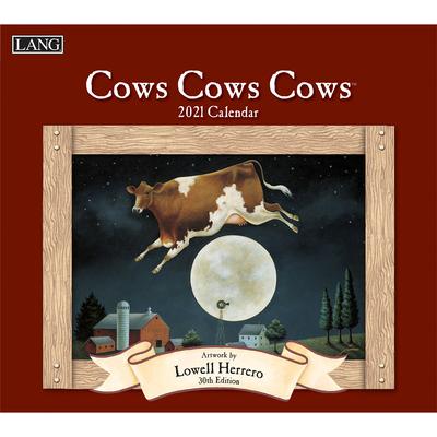Cows Cows Cows 2021 Wall Calendar Cover Image