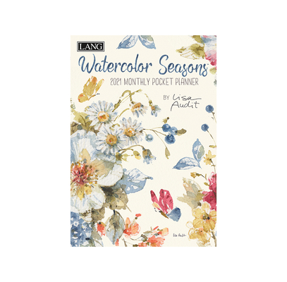 Watercolor Seasons 2021 Monthly Pocket Planner Cover Image