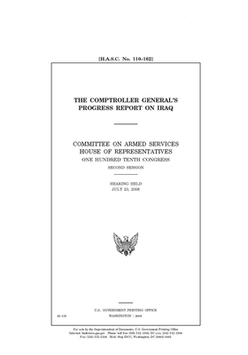 The Comptroller General's progress report on Iraq: / Cover Image