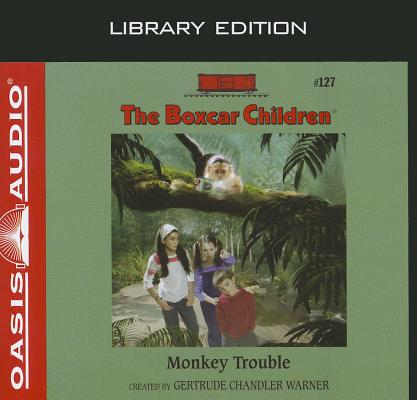 Cover for Monkey Trouble (Library Edition) (The Boxcar Children Mysteries #127)