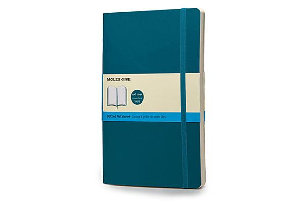 Moleskine Classic Colored Notebook, Large, Dotted, Underwater Blue, Soft Cover (5 x 8.25) Cover Image