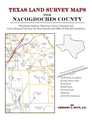 Texas Land Survey Maps for Nacogdoches County Cover Image